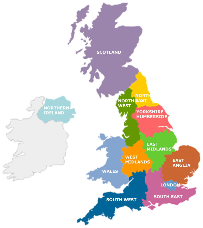 Map Of London North South East West.Regions